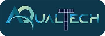 scritta aqualtech su sfondo blu del sito www.aqualtech.it